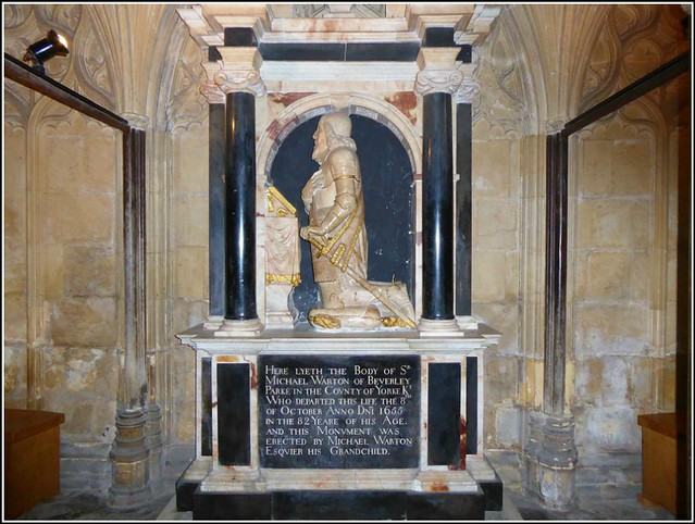 Tomb of Sir Michael Warton ..
