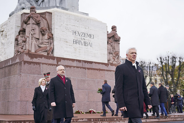 11.11.2019. Ministru prezidents Krišjānis Kariņš piedalās Lāčplēša dienai veltītajos pasākumos