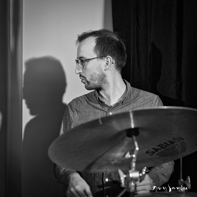 Guillaume on drums