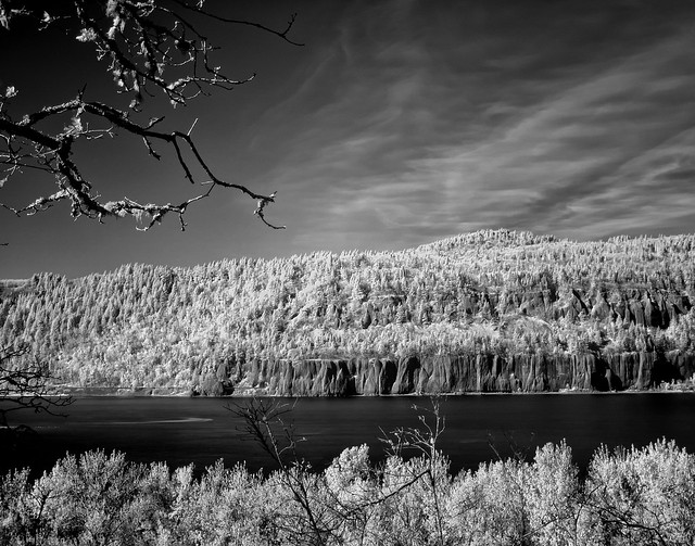 Columbia Gorge in Infrared