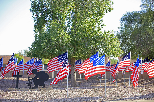 Apache Wells Community Church Veterans Flag Garden