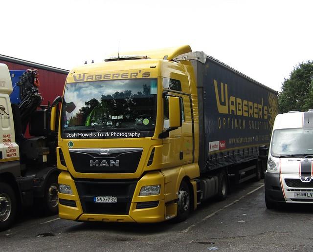Waberer's NVX-732 (Hungary) At Watford Gap Services