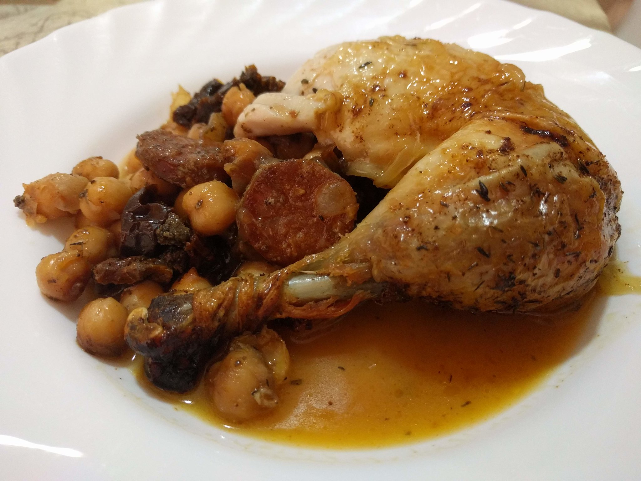 Pollo asado relleno