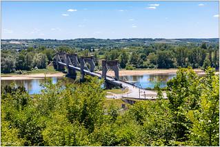 Langeais : le pont suspendu
