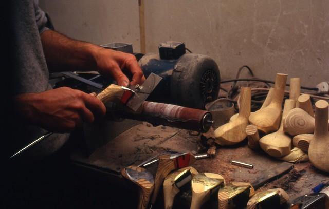 Håndlagde golfkøller (ca. 1987)
