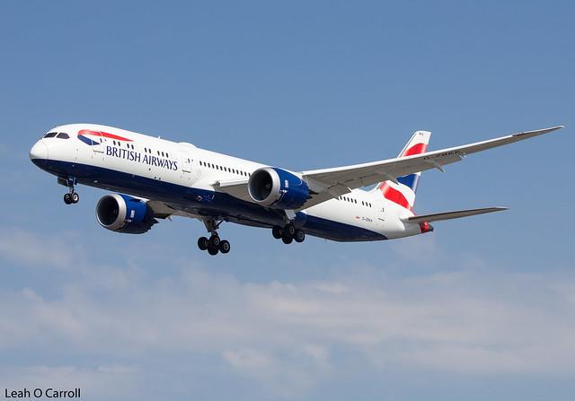 British Airways B787-9 G-ZBKK
