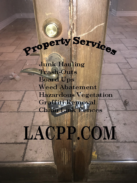emegency sherman oaks foreclosed bank owned property board up