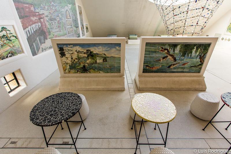 Mesas con mosaicos de 1960