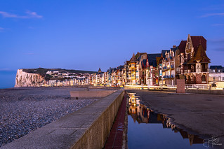 Mers Les Bains - Blue Hour Panorama