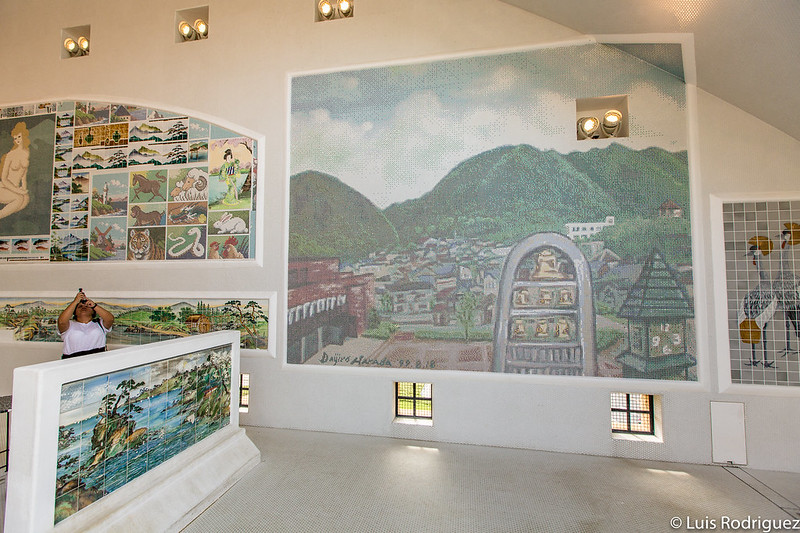 Mosaico basado en una pintura original del artista Daijiro Harada