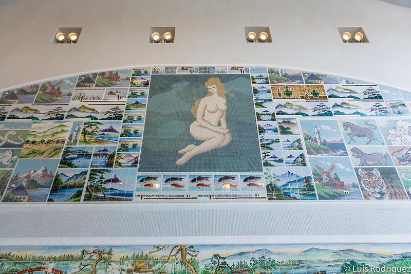 Mosaicos de distintas casas de baños