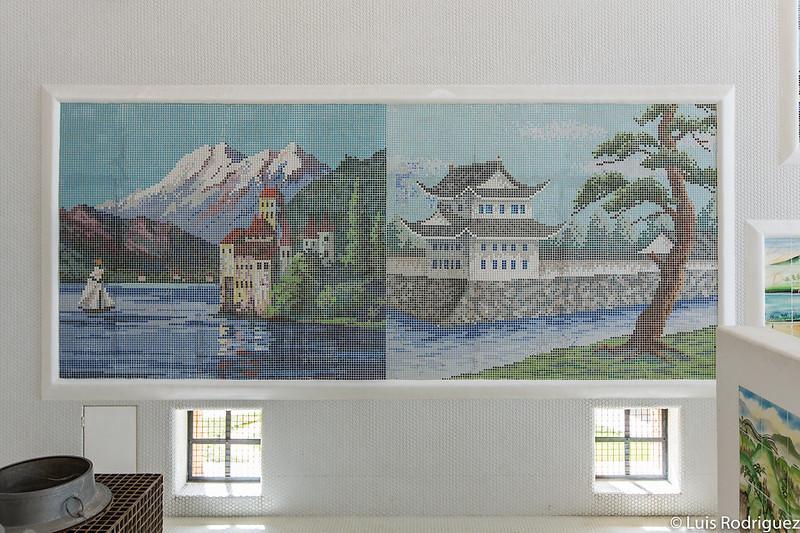 Mosaico extraído de la casa de baños Tokiwa-yu