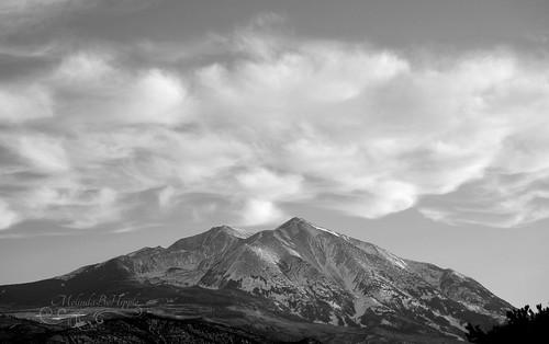 mountain sopris mountsopris colorado carbondale rockies rockymountains sky skies landscape skyscape bw blackandwhite monochrome clouds