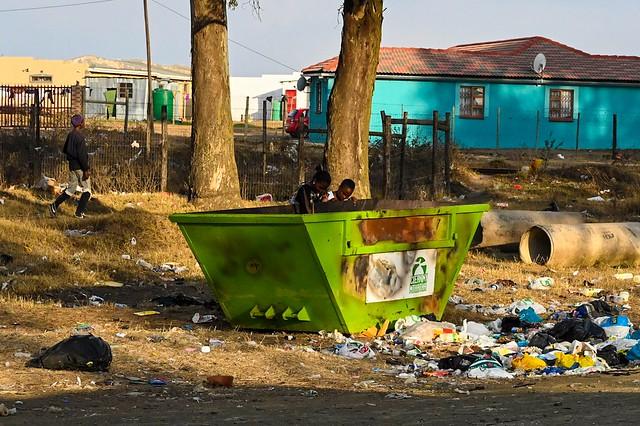 Trash problem in Mthatha.
