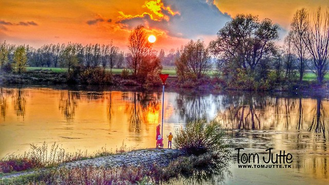 Autumn Sunset, IJssel, Zutphen, Netherlands - 1075
