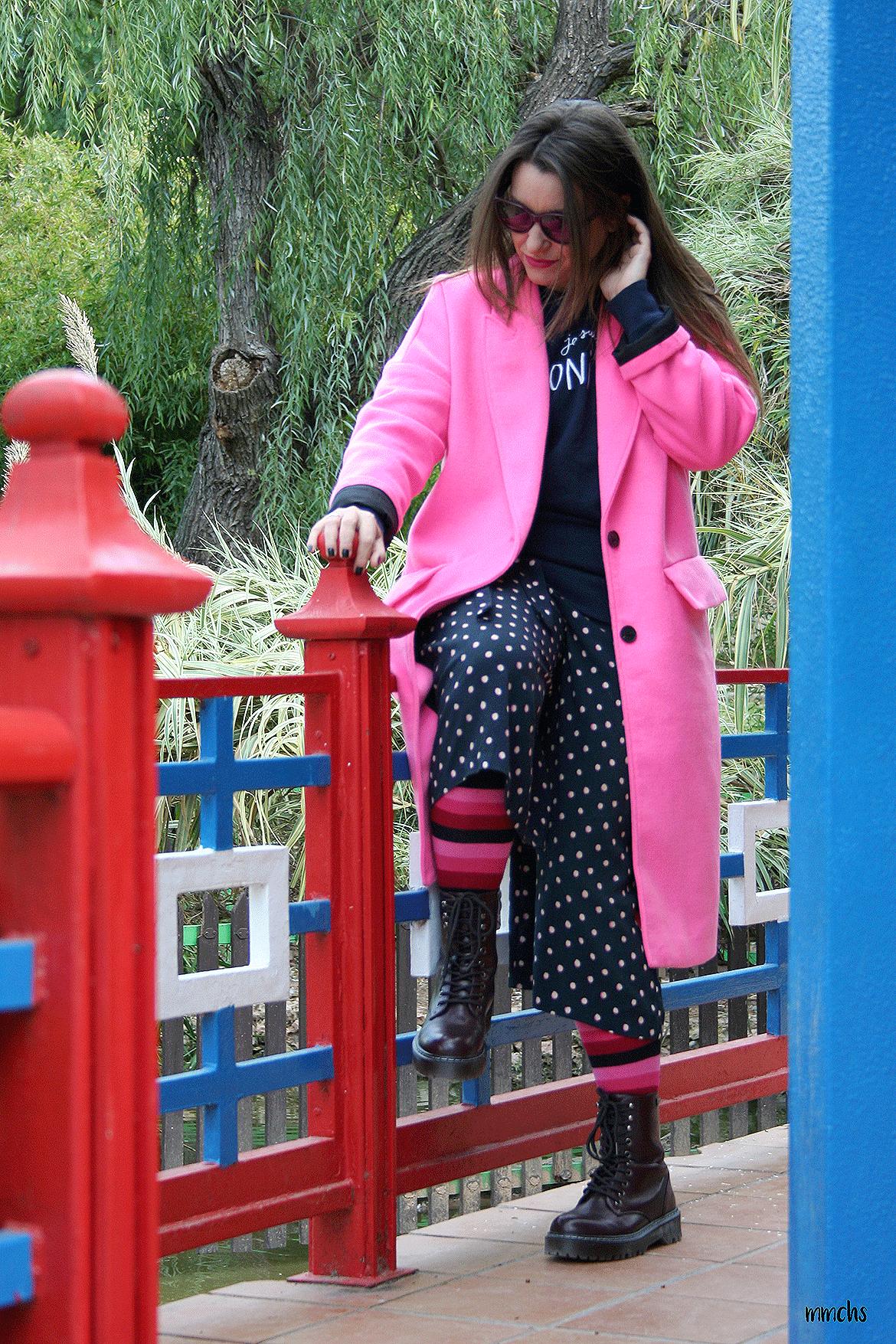 Abrigo rosa fucsia Zara