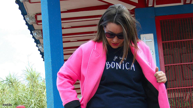 Abrigo rosa de Zara y botas militares granates Coolway, ¡mis básicos de invierno!