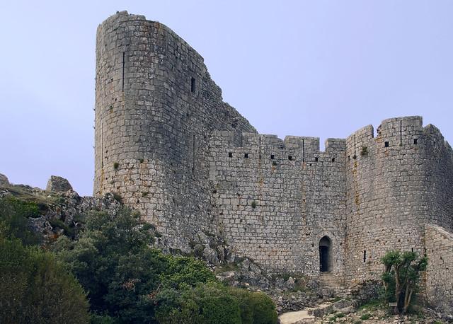 19 1247 - Aude, château de Peyrepertuse, l'entrée