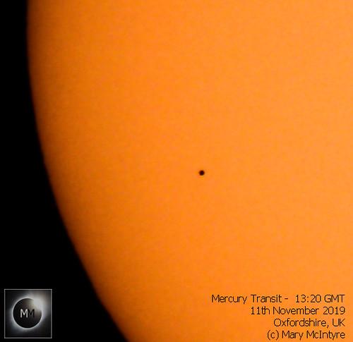 Mercury Transit - 13:20 GMT 11/11/19