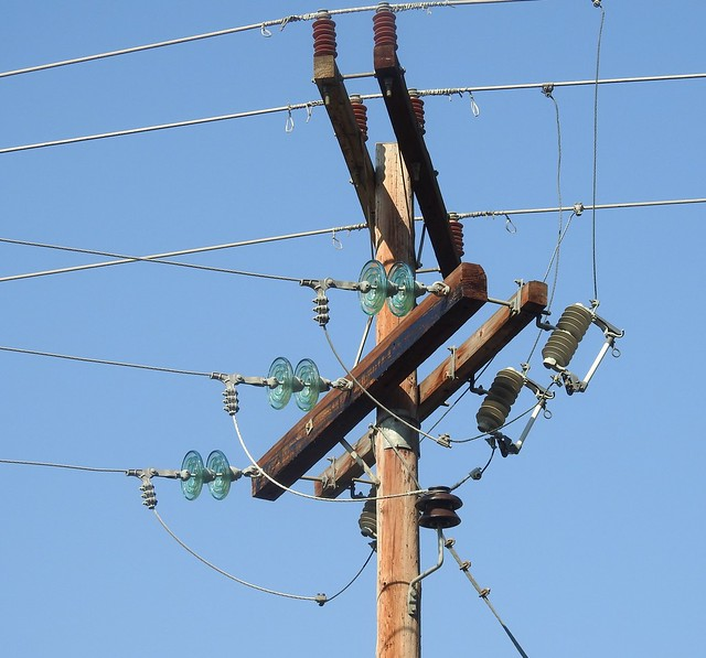 Busy Powerline Intersection
