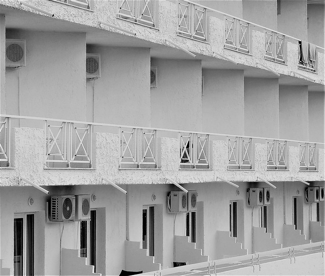 Hotel Bianco Olympico - Balconies and Air-Con Units