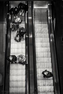 Inhabited escalator