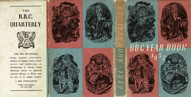 BBC Year Book 1952 ; dust jacket or book wrapper by Cecil Keeling