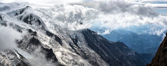 Mont Blanc - a cloudy day