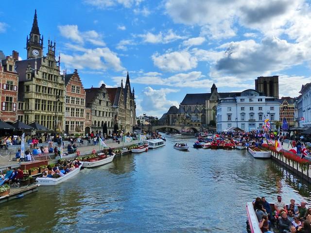 Gent - Graslei, Leie, Sint-Michiels & Korenlei