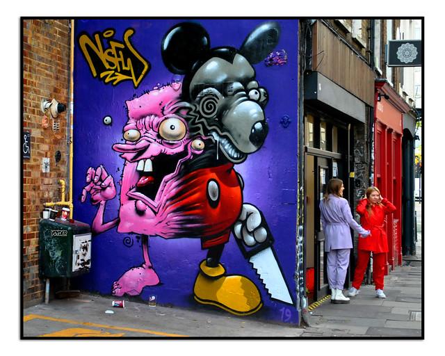 LONDON STREET ART by TOM BLACKFORD & EWAN AGAIN