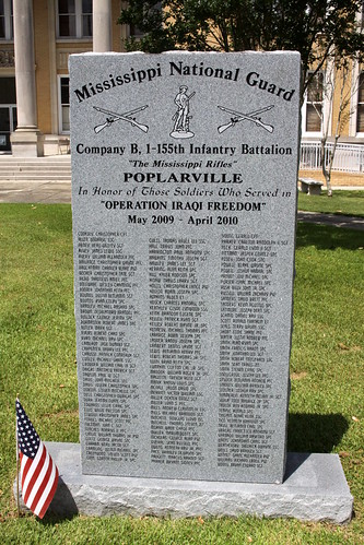 poplarville ms mississippi pearlrivercounty veterans memorial mississippinationalguard operationiraqifreedom bmok