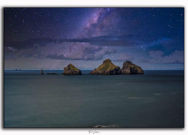 Milky way over islands