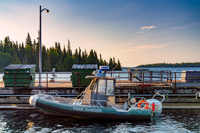 Isle Royale Park Ranger Boat at Rock Harbor