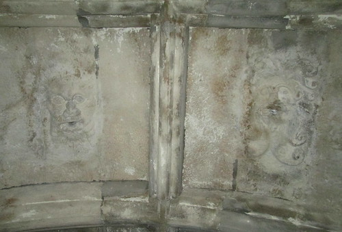Castle Campbell, ceiling face carvings