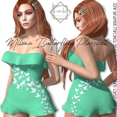 .KIMBRA. - Milena Butterflies Playsuit