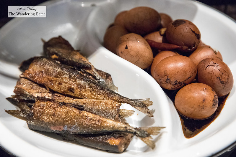 Fried fish and tea eggs