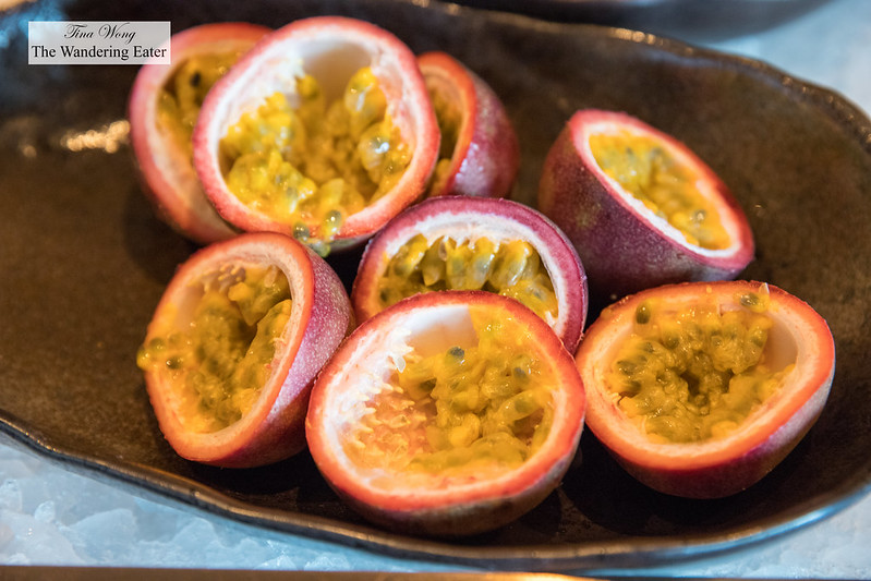 Fresh passion fruit at the Executive Lounge