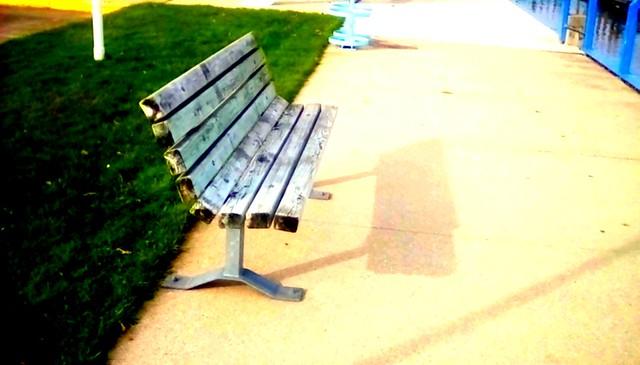 Marina bench - HBM Menominee Michigan