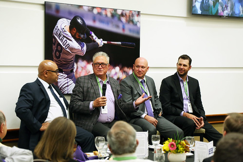 From left: Thomas Harding, Clint Hurdle, Clint Barmes, and Jason Hirsh