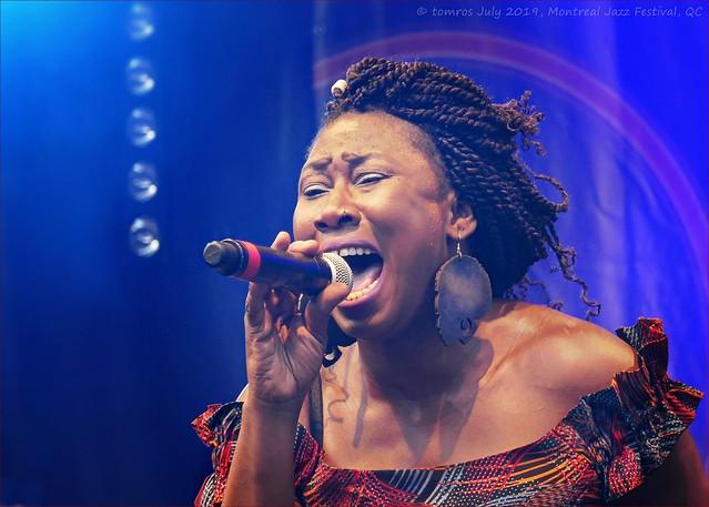 Afrikana Soul Sister (Djely Tapa); Montreal Jazz Festival (FIJM 2019, Day 5)