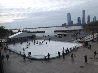 Skating Along the Hudson River, Jersey City Skyline, Lower Manhattan, New York City