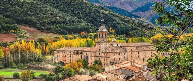 El otoño en el monasterio de Yuso.