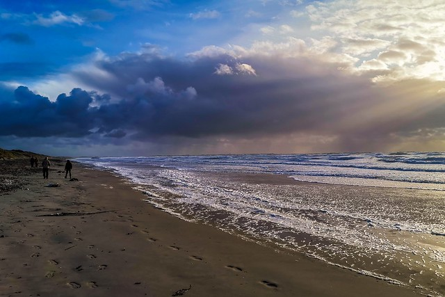 Ciel de nacre sur la baie d'Audierne- Tronoën