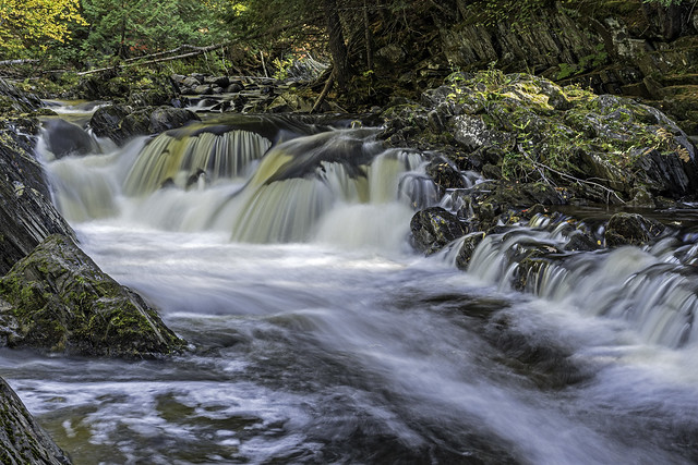 The Middle Falls of the Silver River in Baraga County. Michigan (in explore)
