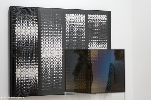 Exhibition DYNAMO - Almir Mavignier : Konvex-Konkav 1964 & Larry Bell : Cube 1967