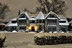 First snow, Lowe-Martin house Walkerville