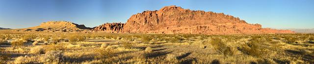 Mojave Desert Landscape Panorama