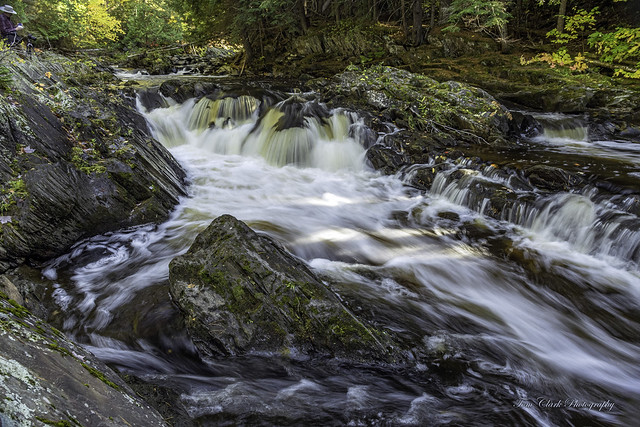 The Middle Falls of the Silver River in Baraga County. Michigan