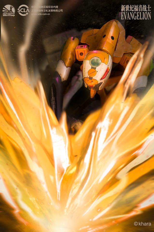 再現捨命掩護初號機的魄力場景! Infinity Studio《福音戰士新劇場版》屋島作戰 試作零號機 ヤシマ作戦 エヴァ零号機 全身場景雕像公開