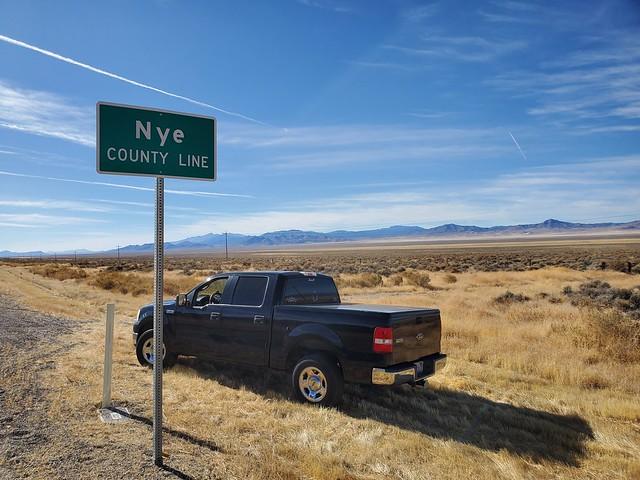 Nye County Black Ford F150